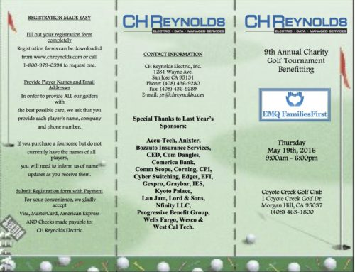 CHREYNOLDS 9TH ANNUAL CHARITY GOLF TOURNAMENT